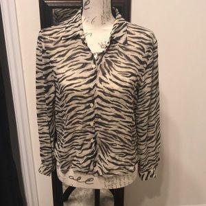 Zebra Chiffon blouse